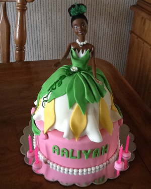 Magnificent Tiana Cake Personalised Birthday Cards Veneteletsinfo