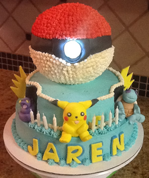 Pokemon Cake By Cubby Cakes