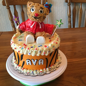 Daniel Tiger Cake By Cubby Cakes