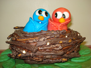 Cake Birds Nest
