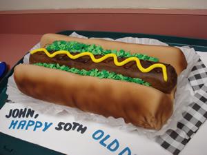 Hot Dog Cake Decorating